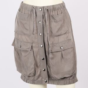 CLUB MONACO Gray Elastic Military Bubble Skirt